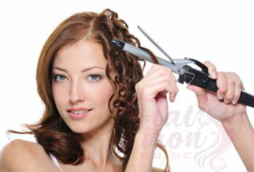 Curling your hair with curling iron