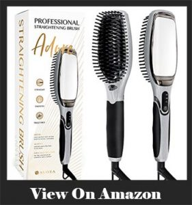 ASAVEA PROFESSIONAL HAIR STRAIGHTENING BRUSH WITH MIRROR